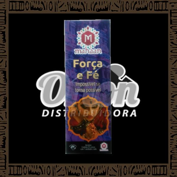 Caixa incenso Mahaan Força e Fé c/ 25 unidades 7 varetas