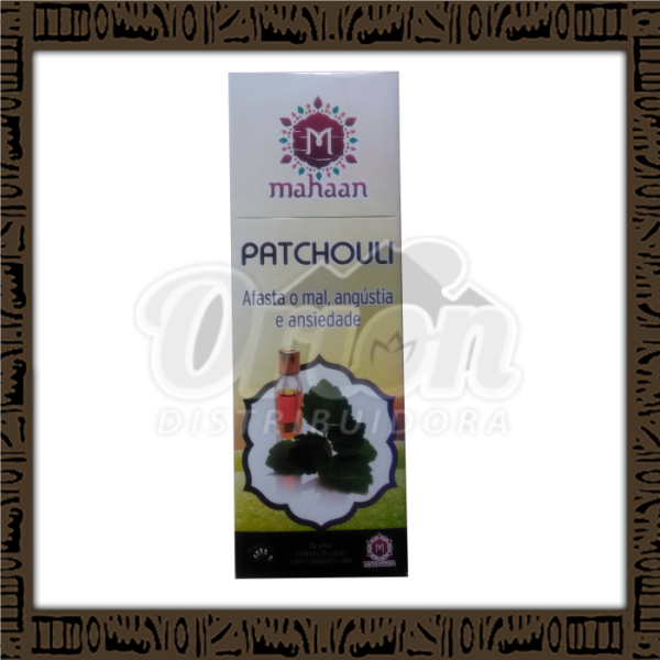 Caixa incenso Mahaan Patchouli c/ 25 unidades 7 varetas