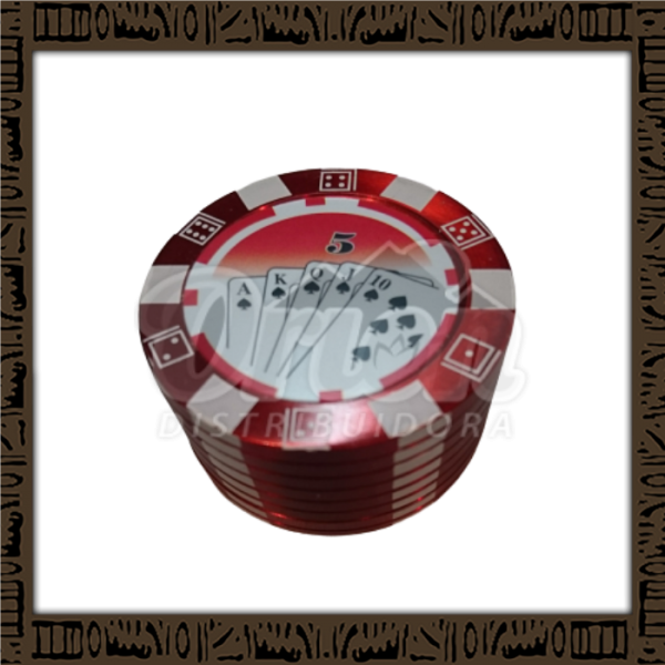 Dichavador ficha de poker - 3 partes