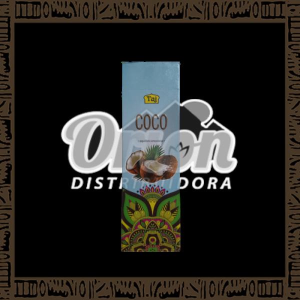 Caixa incenso Taj Coco com 25 recipientes com 7 varetas cada
