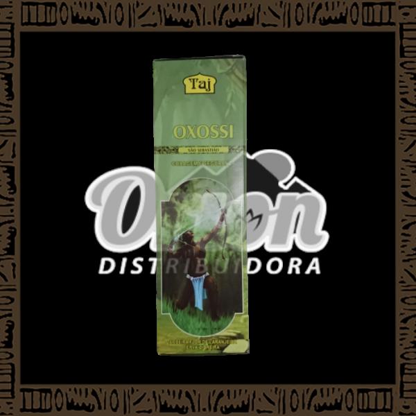 Caixa incenso Taj Oxossi com 25 recipientes com 7 varetas cada