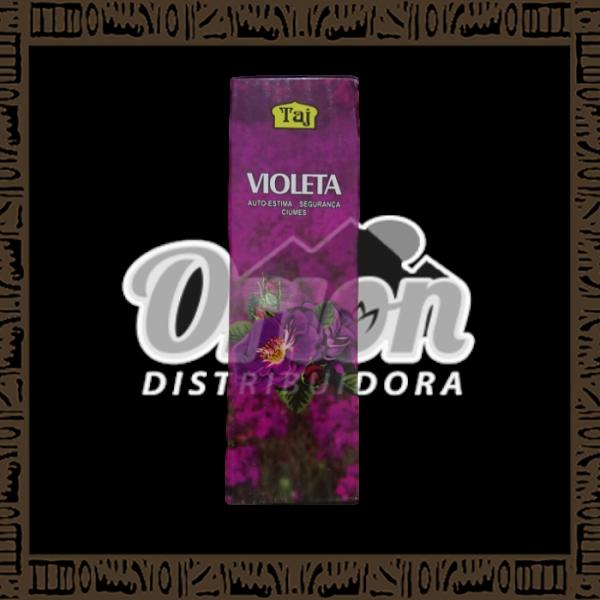 Caixa incenso Taj Violeta com 25 recipientes com 7 varetas cada