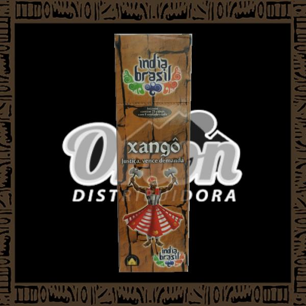 Caixa incenso Índia Brasil Xangô c/ 25 unidades 8 varetas